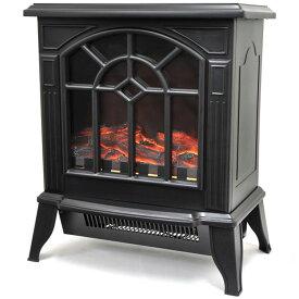 暖炉型ファンヒーター ブラック VS-HF4200送料無料 暖房 ヒーター 暖炉 ストーブ 電気 安全装置 VERSOS 【D】【B】