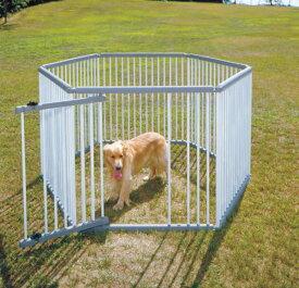 パイプ製ペットサークル(室外用) UC-126セット品 グレー/アイボリー 犬 生き物 飼育 家 ペットと暮らす 囲い 新生活