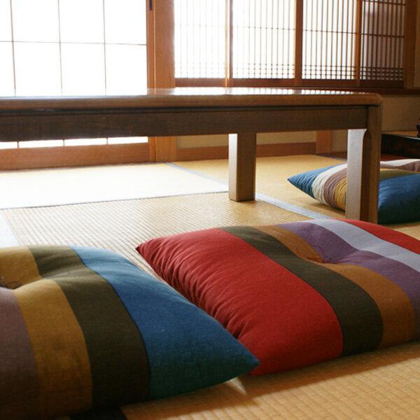 【日本製】縞柄(しまがら)座布団 5枚組
