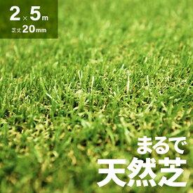 芝生マット リアル ガーデニング ガーデン 人工芝 ロール ロールタイプ 2m×5m 芝丈20mm ベランダ テラス バルコニー リアル人工芝 人工芝生 芝マット 人工芝ロール 芝生 庭 屋上緑化 u字ピン 水はけ