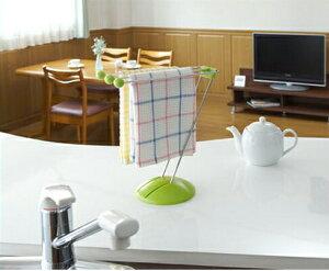 ふきん掛けスタンド 布巾掛けふきんかけ ふきん ハンガー ふきんスタンド ダスター キッチン 台所 台所用品 キッチングッズ Belca ベルカ グリーン使いたい時に台拭きをサッと使えるスタン