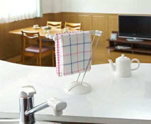 ふきん掛けスタンド 布巾掛けふきんかけ ふきん ハンガー ふきんスタンド ダスター キッチン 台所 台所用品 キッチングッズ Belca ベルカ ホワイト使いたい時に台拭きをサッと使えるスタン