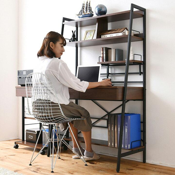 【上部収納付き】 2WAY パソコンデスク WAYBECK(ウェイベック) 高さ調整 薄型デスク KKS-0014 パソコンデスク パソコンラック パソコン机
