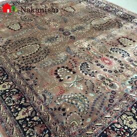 【ペルシャ絨毯 ウール 約6畳用】「王様」絨毯(じゅうたん)・カーペット・ラグ・毛(ウール)100%・約240×300cm・ローズ・サーモン
