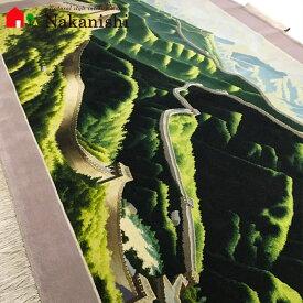 【中国段通 ウール】「万里の長城」絨毯(じゅうたん)・カーペット・ラグ・掛け軸・タペストリー・毛(ウール)100%・約243.7×150cm【代引不可】