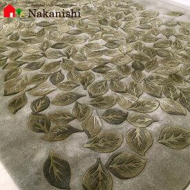 【中国段通 ウール 約3畳用】「皓月千里 抹茶」絨毯(じゅうたん)・カーペット・ラグ・毛(ウール)100%・約165×244cm・120段・グリーン