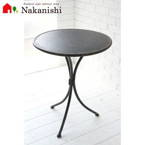 【ラスティ・ガーデンテーブル UH-01】サイドテーブル・花台・アイアン・テーブル・ミニテーブル・アンティーク調・ブラック