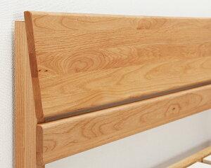 シンプルなデザインの宮付きアルダー材の木製すのこベッドシングルサイズフレームのみ