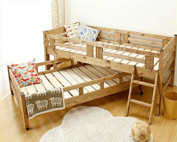 国産品で自然塗料!子供に優しい親子ベッド2段ベッド/二段ベッド(すのこベッド) 二段ベッド 親子ベット 二段ベット 2段ベッド 2段ベット 寝具 おしゃれ シンプル ナチュラル 国産 コンパクト 家具 モダン 無垢材 木製ベッド パイン材 スライド 収納式