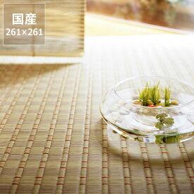 い草 ラグ い草花ござ い草カーペット「初音」江戸間4.5畳(261×261cm) 4.5帖い草上敷き  昼寝