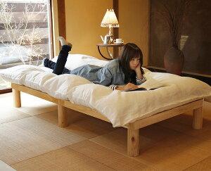 広島の家具職人が手づくり角丸のすのこベッドシングルベッド(ひのき材)フレームのみ