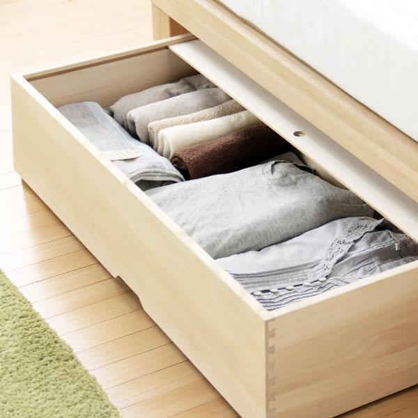 ベッド下の収納スペースにNBシリーズ収納ボックス(桐) おしゃれ ベッド下収納ボックス キャスター付き 収納ケース 引き出し ベット下収納 シンプル ナチュラル 収納家具 モダン