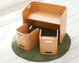 成長に合わせて転がして長く使えるコロコロ デスク&チェア(2脚)3点セットテーブル・イスHoppl(ホップル)※代引き不可 テーブル つくえ 机 いす 椅子 イス チェアー ベビー キッズ 子供 こども 子ども ベンチ 本棚 ブ