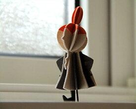 lovi(ロヴィ)白樺のオブジェ Little My(リトルミィ)(1個入り) 北欧 フィンランド ムーミン バーチ 木製 飾り 雑貨 インテリア シンプル ナチュラル グリーティングカード ポストカード はがき 葉書 郵便 郵送 贈り物 プレゼント メッセージ
