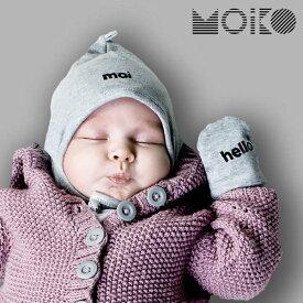 ベビーミトン&ボンネット セット「MOIKO」GREETING GIFT SET FOR BABIES (MOI-HELLO)※代引き不可 ※キャンセル不可 ベビー帽 6ヶ月 ベビー 男の子 女の子 ボンネット 新生児 出産お祝い 贈り物 おしゃれ 赤ちゃん 帽子 フィンランド 北欧