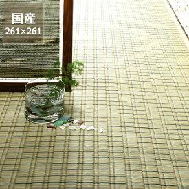 い草 ラグ い草花ござ い草カーペット「最上川」江戸間4.5畳(261×261cm) 4.5帖