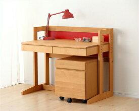【杉工場】【MUCMOC(ムックモック)】木の学習机2点セット(デスク+ワゴン)94cm幅