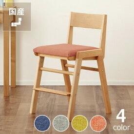 【杉工場】【スピカ】すっきりシンプルデザインの学習椅子・学習チェア(布座)ナチュラル(ビーチ)
