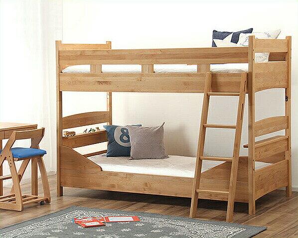 分けても使えるアルダー材の二段ベッド/2段ベッド