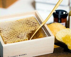 HONEY MARKS(ハニーマークス)コムハニー ギフトボックススパチュラ付き (340g)はちみつ ハチミツ 蜂蜜 巣蜜 ハチの巣 蜂の巣 巣はちみつ