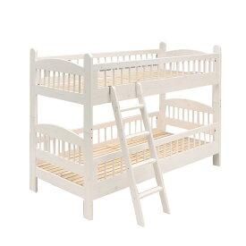 2段ベッド  2段ベッド snow 二段ベッド ジュニアサイズ スノコベッド 小スペース ライトブラウン  ホワイト マット ミニチュア オプション ベッド 子供部屋 寝台 家具 送料無料