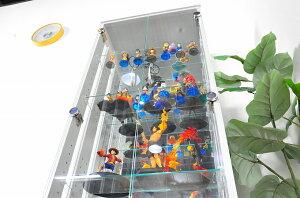 コレクションケース送料無料段差式当店オリジナルガラスケース収納ケース棚板の高低を変えれるコレクションボードアイディア商品収納家具ワンピースフィギュアコレクション飾れるシェルフ配送無料