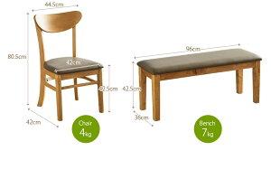 ダイニングテーブルセットダイニングセット120幅75幅4点セットグリム4人掛けベンチチェアー食卓4点セット食卓セットダイニングテーブルダイニングチェアーダイニングベンチ4人用4点set木製木送料無料
