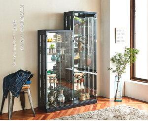 コレクションケースコレクションボードガラスコレクションラック完成品ハイタイプフィギュアひな壇ケースコレクション棚ホワイトブラックガラスコレクションボックスledフ