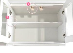 食器棚完成品日本製幅60オープンダイニングボードココ耐震キッチン収納隙間収納収納キッチンカウンターすきま収納キッチン収納レンジ台レンジラックキッチンボード鏡面ボード国産人気ホワイト
