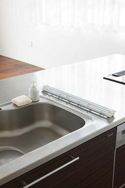 折り畳み水切りラックタワーL[キッチンシンクお皿コップ水切り板作業台ラック]PVSWKPVSBKPVSWPVSB