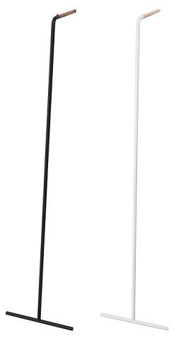 スリムコートハンガータワー[コート掛け洋服掛けアイアン立て掛けシンプルモダン隙間収納][ホワイトブラック木製北欧おしゃれかっこいい]PVSWEPVSBE