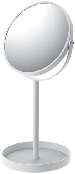 スタンドミラー&トレイタワー[卓上収納アクセサリーコンパクト拡大鏡おしゃれシンプル][ホワイトブラック]PVSWKPVSBK
