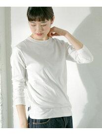 [Rakuten Fashion]ロータスコットンクルーネック かぐれ カグレ カットソー Tシャツ ホワイト グレー グリーン【送料無料】