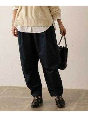 [Rakuten Fashion]コットンピーチラウンテッドパンツ かぐれ カグレ パンツ/ジーンズ パンツその他 ネイビー ベージュ【送料無料】