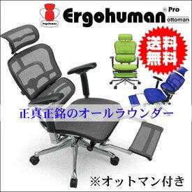 (キャッシュレス 還元)【送料無料】オフィスチェア アームレスト エルゴヒューマン おしゃれ オットマン キャスター ハイバック フィット プロ メッシュ リクライニング 可動 腰痛対策 パソコンチェア 疲れにくい オ EHP-LPL 肘付き ホワイト 椅子 イス 肘掛け