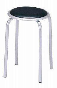 送料無料 パイプ 丸型 椅子 軽量 耐久性 チェア 丸椅子(10脚1ケース販売 )重ねる 丸イス 丸いす 食堂イス ダイニングチェアー スツール スタッキングチェア・背もたれなし 肘掛けなし ブラ