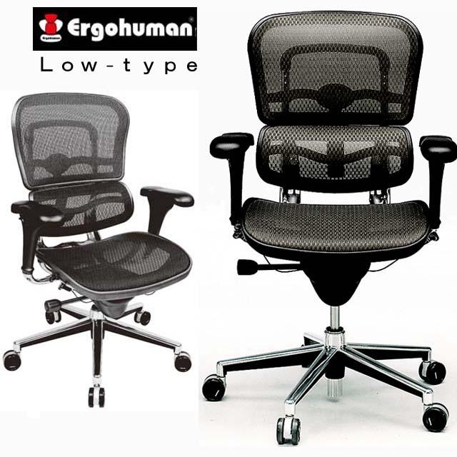 高級オフィスチェア 高機能チェア パソコンチェア 疲れにくい メッシュ パソコンチェアー オフィスチェア おしゃれ ホワイト 腰痛 緩和 椅子 エルゴヒューマン ヘッドレスト無 ロータイプ EH-LA イス チェア 肘付き 椅子 イス 肘掛け