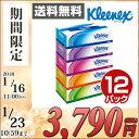 日本製紙クレシア クリネックス ティッシュペーパー 360枚(180組) パルプ100%5箱×12パック(60箱) 40465 ティシュペ…