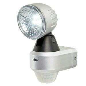 大進(ダイシン) 高輝度LEDセンサーライト/LED 1灯/AC電源/屋内外 DLA-4T100 シルバー センサーライト 人感センサー 玄関 照明 防犯ライト セキュリティライト 屋外