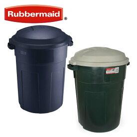 ラバーメイド(Rubbermaid) 屋外用 ゴミ箱 丸型 ラフネックリフューズコンテナ 32ガロン (121L) FG289487 ごみ箱 ダストボックス 分別 おしゃれ トラッシュボックス 蓋付き ふた付き おしゃれ 【送料無料】