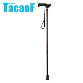 幸和製作所 TacaoF(テイコブ) 伸縮ステッキ EP02-BR ドットブラウン 杖 ステッキ 歩行補助 おしゃれ 伸縮杖 伸縮 伸縮式杖 【送料無料】