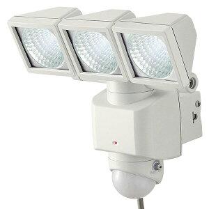 大進(ダイシン) センサーライト/LED 3灯/AC電源/屋内外 DLA-3T400 ホワイト LEDセンサーライト 防犯ライト センサー付ライト 人感センサー