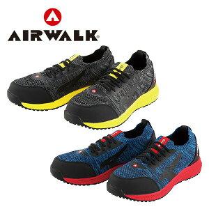 エアウォーク 安全靴 スニーカー ニットフィット 紐靴 ローカット AW-720/AW-730 プロテクティブスニーカー 作業靴 ローカット JSAA規格B種 AIRWALK 【送料無料】