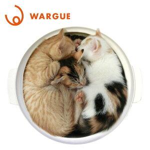 WARGUE 鍋型 ヒーター内蔵 猫 ベッド WG-001M 猫鍋 ねこ鍋 ネコ鍋 ヒーター 猫用ベッド ベッド あったか ペットグッズ 【送料無料】