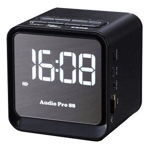 ミニスピーカー 時計機能 Bluetooth機能 アラーム機能 クロックラジオ付き TMB-009 ブラック スピーカー ラジカセ CDラジカセ SDレコーダー SDプレーヤー CDプレーヤー ラジオレコーダー とうしょ
