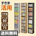 【5%OFF】 コミック CD DVD 収納ラック (幅26 高さ150) CCDCR-2615 カラーボックス すき間ラック すきまラック 隙間ラック CDラ...