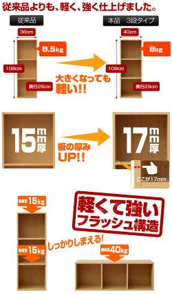 山善(YAMAZEN)カラーボックスA42段CABR-7540