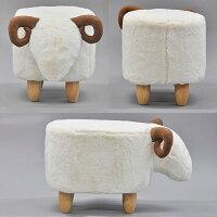 座れるぬいぐるみ『アニマルスツールひつじ(ヒツジ)』ペットのような可愛い動物の椅子(かわいいいす)癒し系お洒落(おしゃれ)インテリアリビング子ども部屋(こども部屋子供部屋)孫贈り物プレゼント(誕生日クリスマス)玄関チェア天然木の脚ホワイト白羊(ASS-02)
