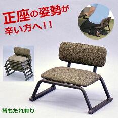 『背もたれ付き正座椅子』(単品)幅42cm奥行き29cm高さ30.5cm座面高さ17cm送料無料積み重ねて収納可能スタッキングチェア立ち座りが楽な正座イス(正座いす和風チェア)高齢者集会法事和室椅子(正座椅子)シンプルブラウン(茶色)完成品
