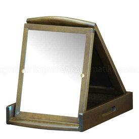MED-6223 M2294 折鏡一面 フォールティング 折りたたみミラー 鏡コンパクト たためる 便利 ドレッサー【送料無料】